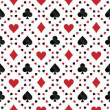 Seamless pattern with poker cards symbols Royalty Free Stock Photography