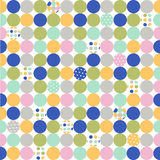 Seamless pattern, polka dot fabric Stock Photos