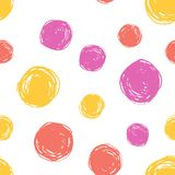 Seamless pattern polka dot paint vector illustration