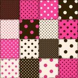 Seamless pattern of polka dot patchworks vector illustration
