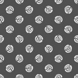 Seamless pattern with polka dots (abstract roses) Stock Photo