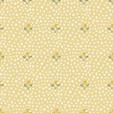 Seamless pattern with polka dots and flowers stock illustration