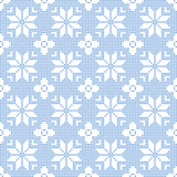 Seamless Pattern of polka dots with snowflakes. Vector illustration Stock Illustration