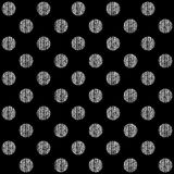 Seamless pattern with polka dots texture Royalty Free Stock Image