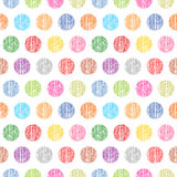 Seamless pattern polka dots on a white background Stock Images