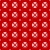 Seamless Pattern of polka dots, white snowflakes Stock Photo