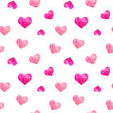 Seamless pattern of polygonal hearts, vector Stock Photo