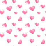 Seamless pattern of polygonal hearts, vector Royalty Free Stock Images