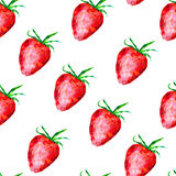 Seamless pattern with polygonal strawberries. Abstract strawberry, berry background Royalty Free Stock Images