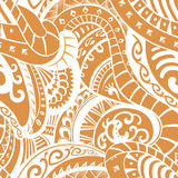 Seamless pattern in Polynesian style Royalty Free Stock Image