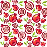 Seamless pattern of pomegranate royalty free stock photography