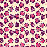 Seamless pattern with pomegranate . vector Stock Photo