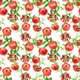 Seamless pattern of pomegranates Stock Photography