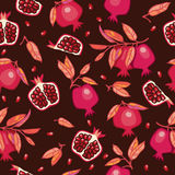 Seamless pattern with pomegranates Royalty Free Stock Photography