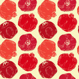 Seamless pattern with pomegranates. On white background Royalty Free Stock Image