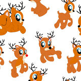 Seamless pattern with ponies. Isolated Royalty Free Stock Photo