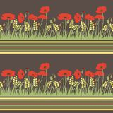 Seamless pattern with poppies Stock Images