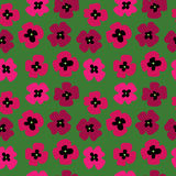 Seamless pattern with poppies on a green background. Seamless pattern with a poppies on a green background Stock Photography