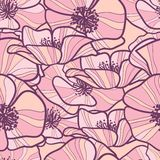 Seamless pattern with poppy Royalty Free Stock Photos