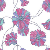 Seamless pattern with  poppy flowers Royalty Free Stock Photography