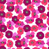Seamless pattern poppy flowers. Spray paint. Drawing by hand Stock Photography