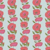 Seamless pattern with poppy flowers Royalty Free Stock Photos
