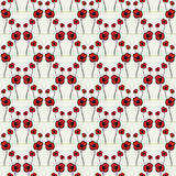 Seamless pattern with poppy Royalty Free Stock Image