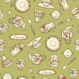 Seamless pattern with porcelain Royalty Free Stock Image