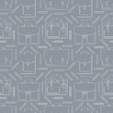 Seamless pattern with portfolios and pencils Stock Photos