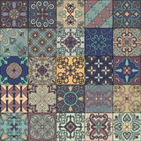Seamless pattern with portuguese tiles in talavera style. Azulejo, moroccan, mexican ornaments. Seamless pattern with portuguese tiles in talavera style royalty free illustration