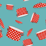 Seamless pattern pot.  Vector background for kitchen Stock Images