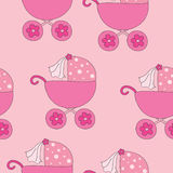 Seamless pattern with pram Royalty Free Stock Photos