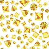 Seamless pattern with precious gem Citrine Stock Images
