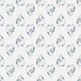 Seamless pattern with precious gem Diamond. Seamless pattern with green precious gem Diamond in pear cut on gray background. Vector illustration Stock Photos
