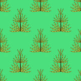 Seamless pattern of prehistoric plants horsetail for textiles, paper, wallpaper Stock Images