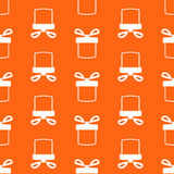 Seamless pattern of present box Royalty Free Stock Photos