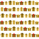 Seamless pattern with presents or gifts Royalty Free Stock Images