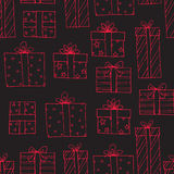 Seamless pattern with presents Royalty Free Stock Image