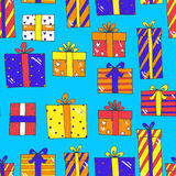 Seamless pattern with presents Royalty Free Stock Photos