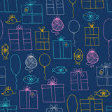 Seamless pattern with presents Stock Photo