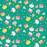 Seamless pattern with presents Stock Photography