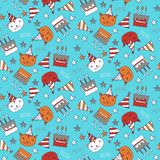 Seamless pattern with presents Royalty Free Stock Images