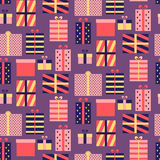 Seamless pattern with presents Stock Images