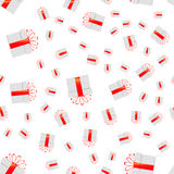 Seamless pattern of presents on white background.  Vector illustration Stock Photography