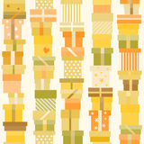 Seamless pattern with presents Royalty Free Stock Photography