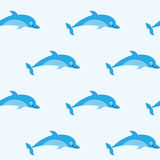 Seamless pattern with pretty good dolphins Royalty Free Stock Images