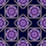 Seamless pattern, pretty unusual mandala Royalty Free Stock Photo