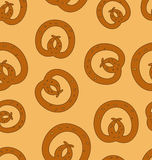 Seamless Pattern Pretzel Background Royalty Free Stock Photo