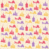 Seamless pattern with princess accessories Stock Photos