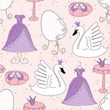 Seamless pattern with princess accessories Royalty Free Stock Photography